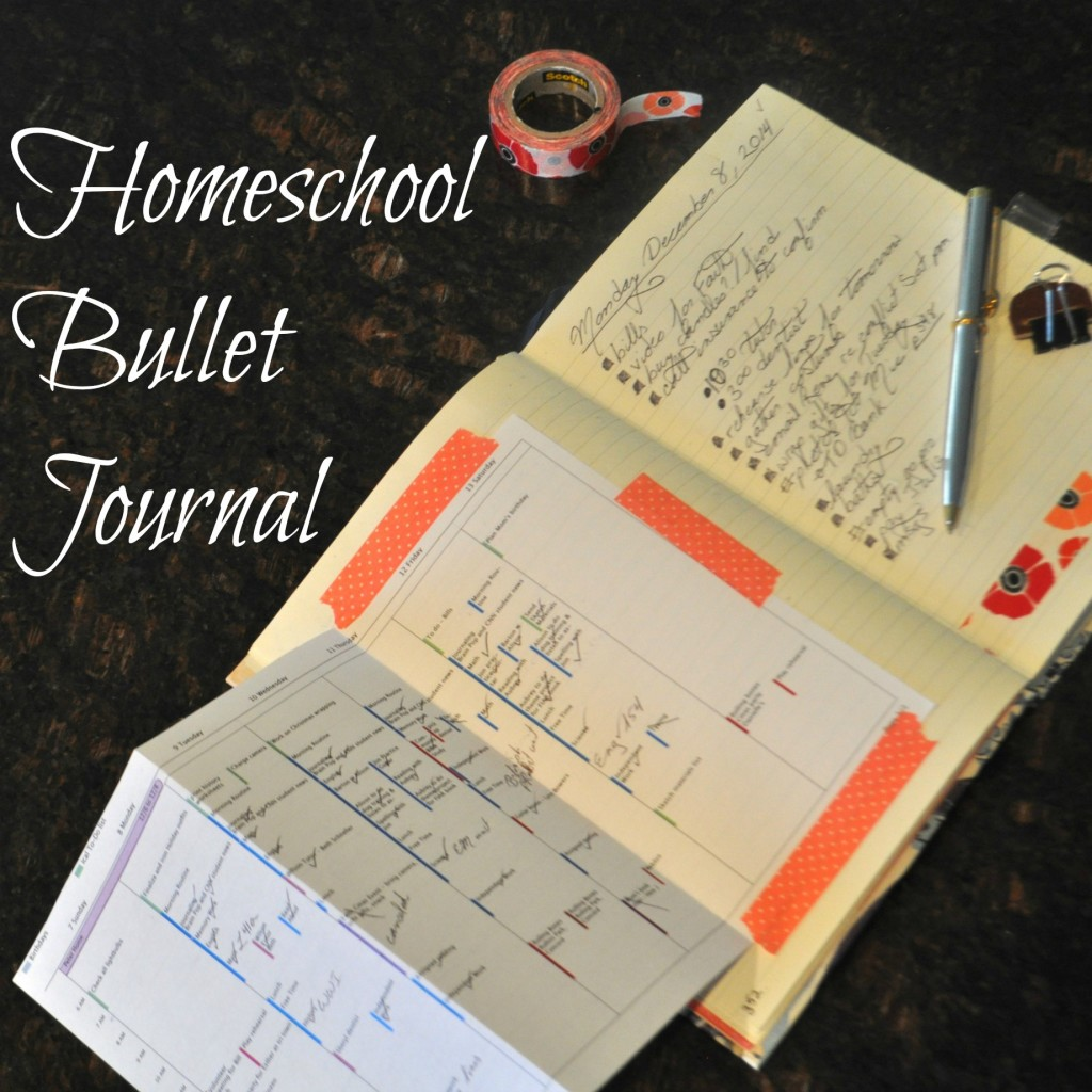 Homeschool Bullet Journal page